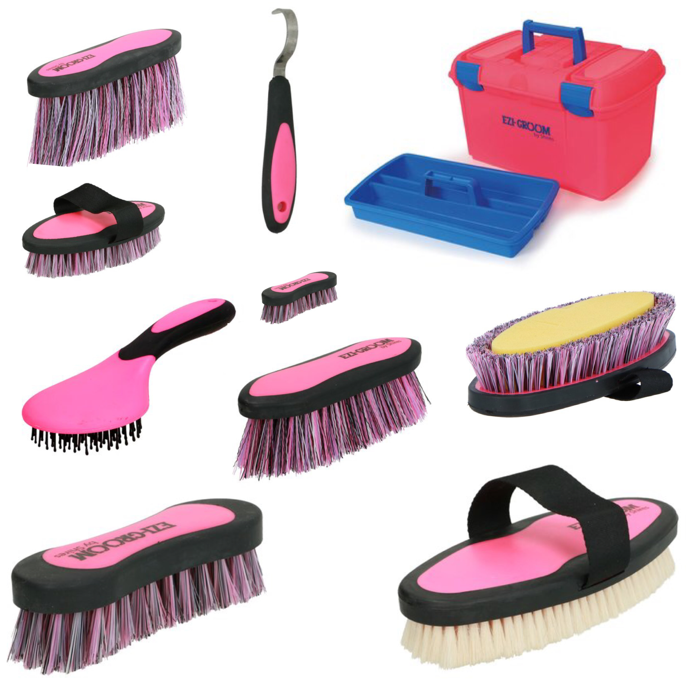 Ezi Groom Box & Brush Set - Pink