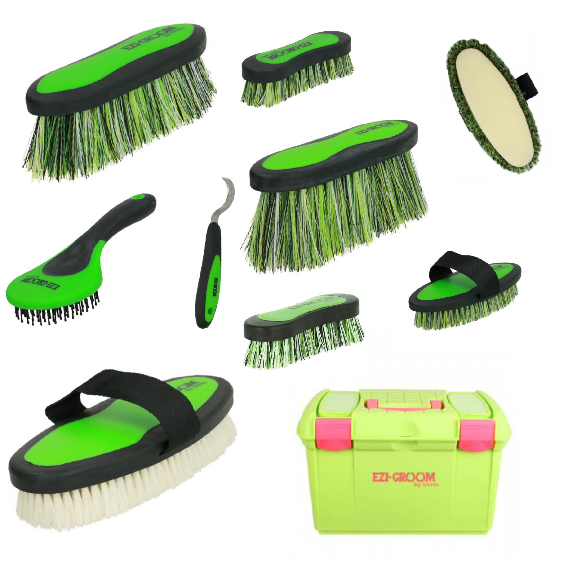Ezi Groom Box & Brush Set - Lime